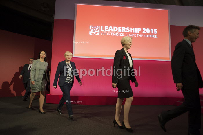 Deputy Leader candidates at Labour Party leadership poll result Westminster London - Philip Wolmuth - 2015-09-12