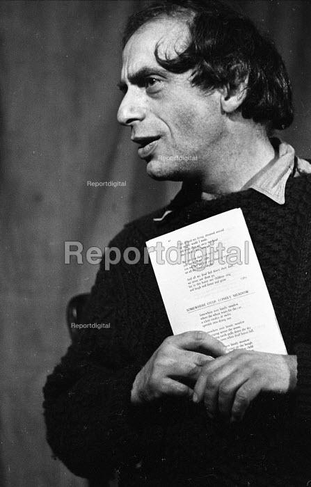 Bernard Kops, British dramatist, poet and novelist, poetry reading, 1971 - Gail Clarke Hall - 1971-02-04