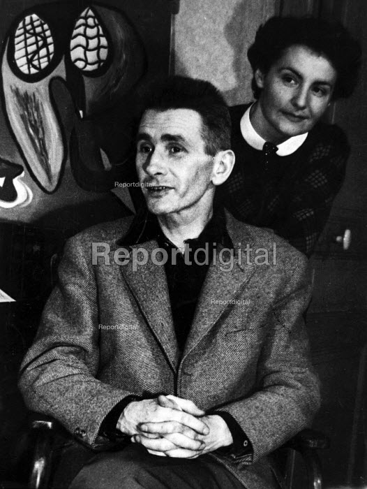 French cartoonist and member of the Surrealist art movement, Maurice Henry, 1952, Paris, France. .... - Ina Bandy - 1952-03-25