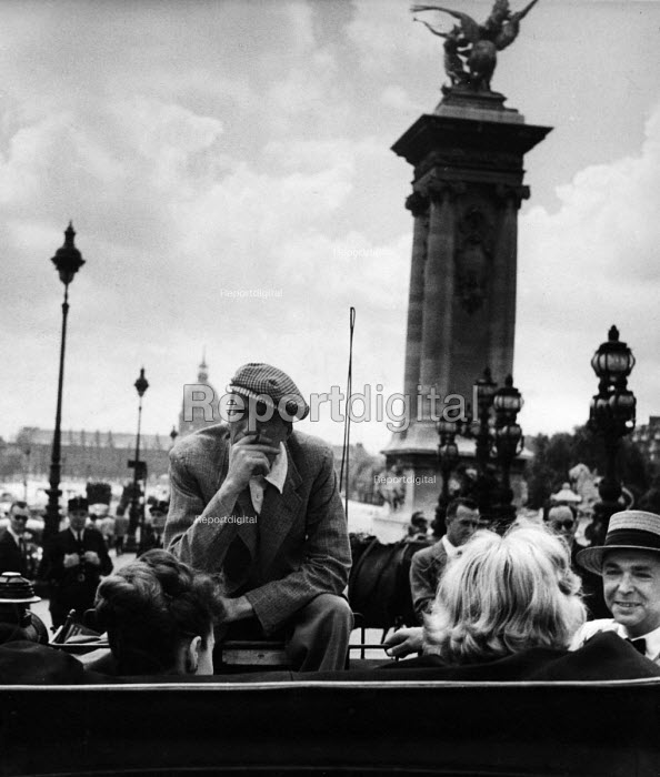 Film Director John Huston on the set of Moulin Rouge 1952 Paris, France - Ina Bandy - 1952-07-08