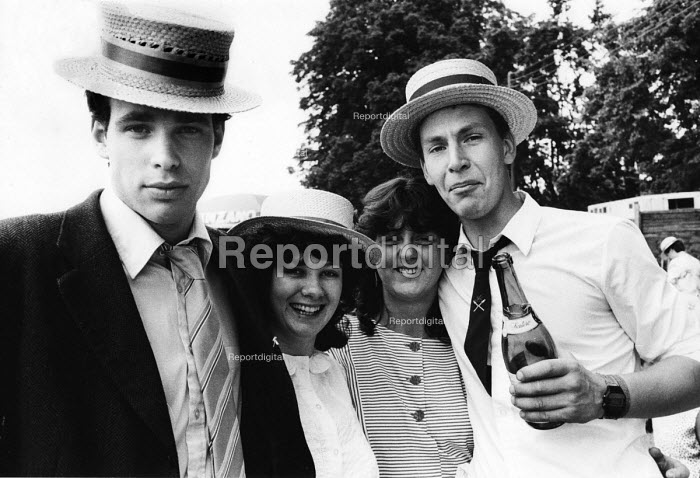 The idle rich socialising at the Henley Regatta in the summer of 1987. - John Harris - 1987-07-04
