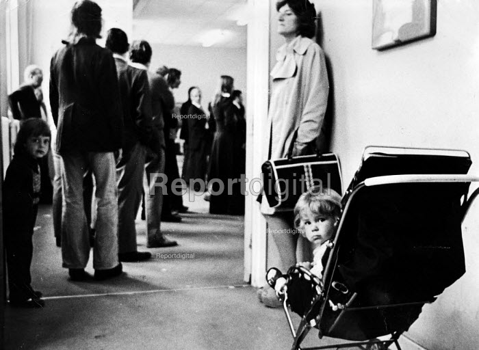 Queueing at the Employment Exchange 1977, Middlesbrough - John Sturrock - 1977-09-17