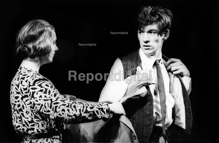 Ian McKellen, acting in Their Very Own, play by Arnold Wesker, Royal Court Theatre, London, 1966 - Patrick Eagar - 1966-05-18