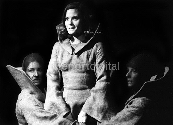 Macbeth, Open Space Theatre in Tottenham Court Road, London, 1969, Thelma Holt as Lady Macbeth. - Patrick Eagar - 1969-05-19