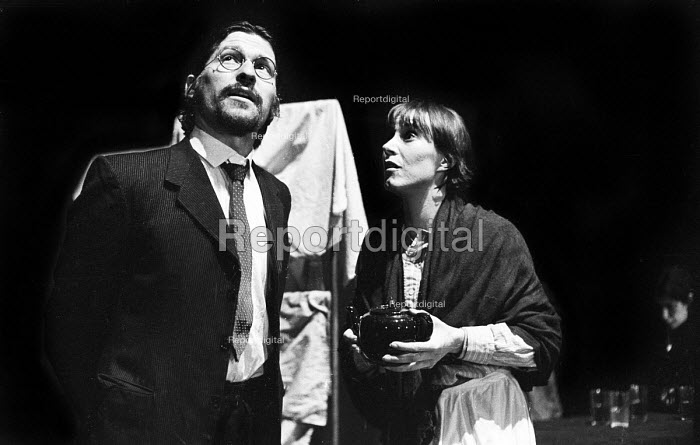 The Mother by Bertolt Brecht staged, Half Moon Theatre Company at the Roundhouse Theatre, London, 1973. Mary Sheen as Pelagea Vlasova, The Mother and Michael Irving as Nikolai Vesovchikov. - Peter Harrap - 1973-05-07
