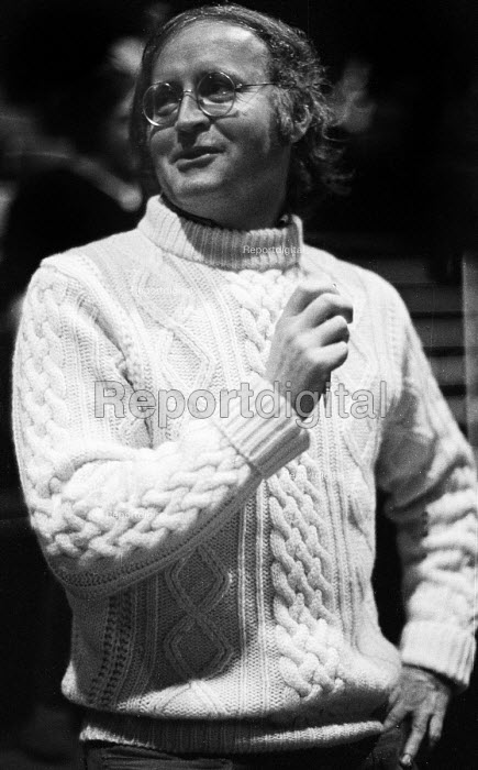 Playwirght, Edward Bond, on the set of his play BINGO, Northcott Theatre, Exeter, 1973. - Peter Harrap - 1973-11-13