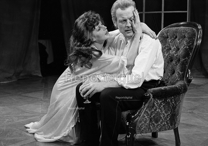 A Patriot For Me by John Osbourne, Watford Palace Theatre, 1973. Marianne Faithfull as Countess Sophia and Michael Byrne as Colonel Redl. - Peter Harrap - 1973-11-27