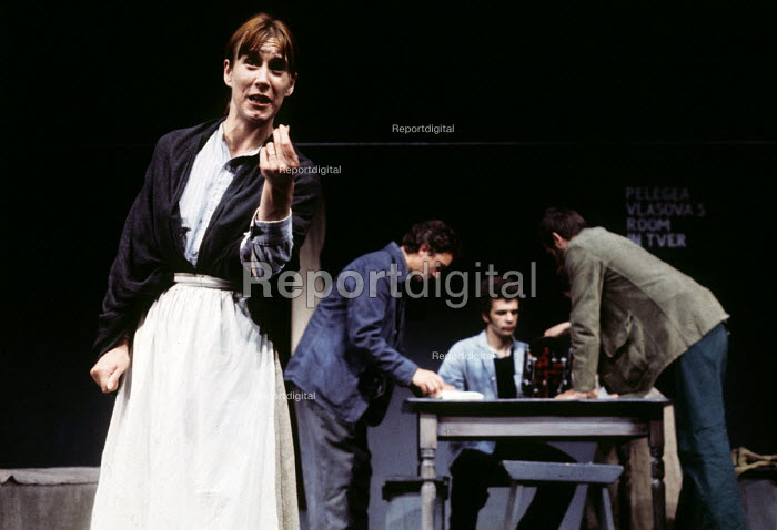 The Mother by Bertolt Brecht, Half Moon Theatre Company at the Roundhouse Theatre, London, 1973. Mary Sheen playing Pelagea Vlasova, The Mother. - Peter Harrap - 1973-05-07