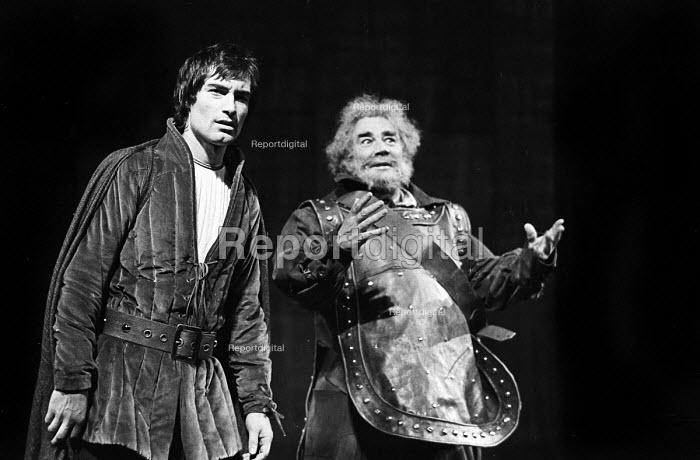 Timothy Dalton and Paul Hardwick, Henry IV, Roundhouse Theatre, London, 1974 - Peter Harrap - 1974-09-03