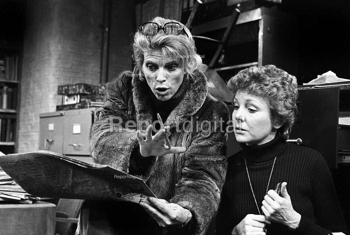 Billie Whitelaw, Alphabetical Order, a comedy by Michael Frayn, Hampstead Theatre, London, 1975 - Peter Harrap - 1975-03-05