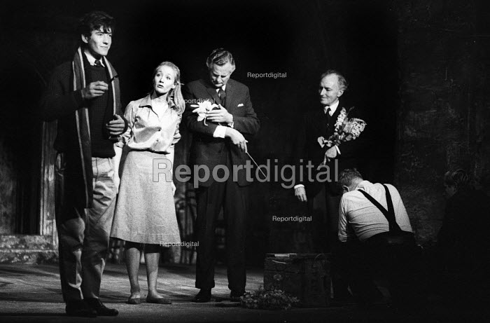 A Scent Of Flowers by Jim Saunders staged at the Duke of Yorks Theatre in London in 1964, with Ian McKellen & Jennifer Hilary, on left, in the lead roles. - Romano Cagnoni - 1964-09-30