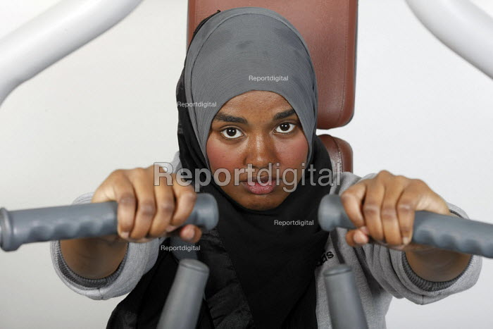 A pupil using the fitness suite in a sports centre at Joseph Chamberlain Sixth Form College. - Roy Peters - 2011-07-08