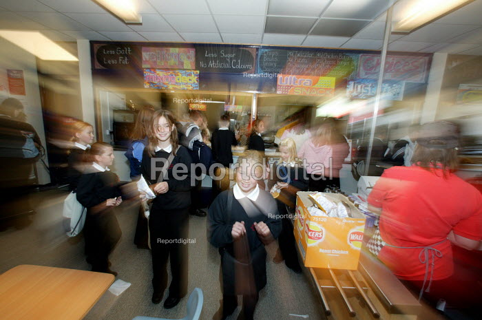 Breaktime, Easington Community School, County Durham - Roy Peters, RP411278.jpg