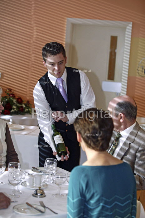 Apprentice waiter learning his skills at UK Skills... - Roy Peters, RP511q317.jpg