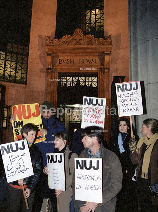 NUJ members stage short strike over unacceptable night... - Stefano Cagnoni, SC00BBC2.JPG