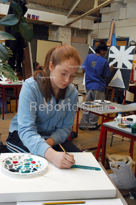 Pupils taking their mock Art exam for GCSE at Camden... - Stefano Cagnoni, SC051224.jpg