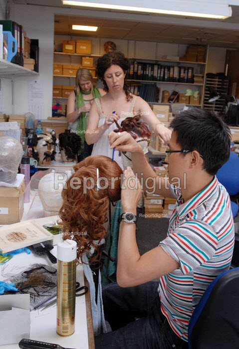 Staff at work in the Wigs department at Covent Garden's Royal Opera House - Stefano Cagnoni - 2008-06-23