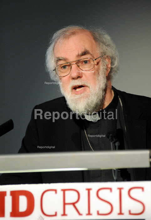 Dr Rowan Williams, Archbishop of Canterbury, making the keynote speech at a TUC Conference on the economic recession entitled: Beyond Crisis. - Stefano Cagnoni - 2009-11-16