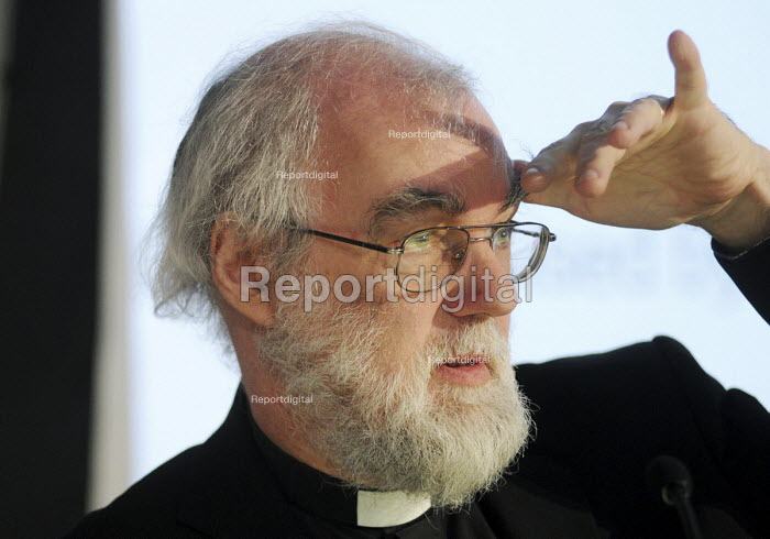 Dr Rowan Williams, Archbishop of Canterbury, making at a TUC Conference on the economic recession entitled: Beyond Crisis. - Stefano Cagnoni - 2009-11-16