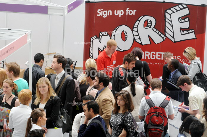 Graduates who have just left University at Targetjobs at the London Graduate Fair in London where they are seeking employment. - Stefano Cagnoni - 2009-06-16