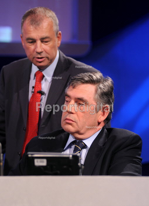 Gordon Brown with TUC General Secretary Brendan Barber at the 2009 TUC in Liverpool - Stefano Cagnoni - 2009-09-15