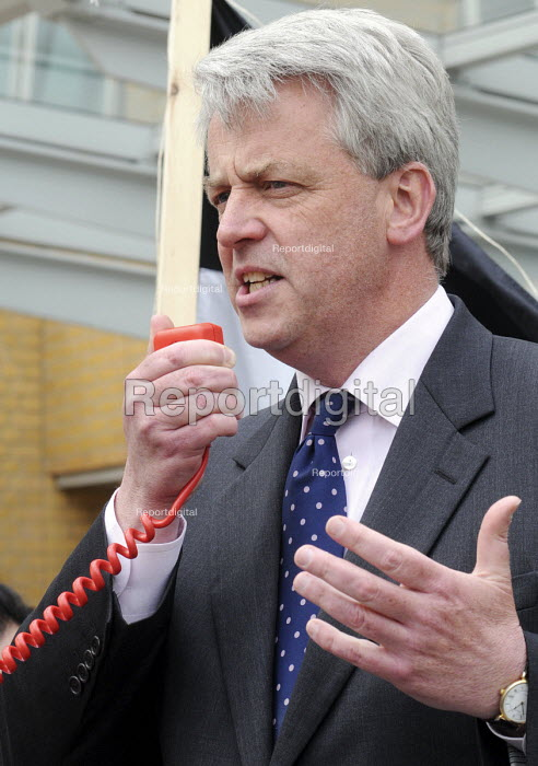 Andrew Lansley MP speaking at a rally at The Whittington Hospital in north London, against the closure of the A&E & Maternity Departments. - Stefano Cagnoni - 2010-04-29