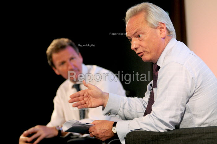 Francis Maude, Conservative MP & Minister for the Cabinet Office, speaks to the 2011 Civil Service Live event as Sir Gus O'Donnell, Cabinet Secretary & Head of the Civil Service, listens in the background - Stefano Cagnoni - 2011-07-05