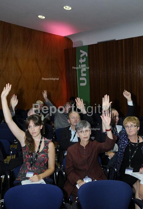 EQUITY delegates vote at TUC. TUC Congress 2011 London. - Stefano Cagnoni - 2011-09-12