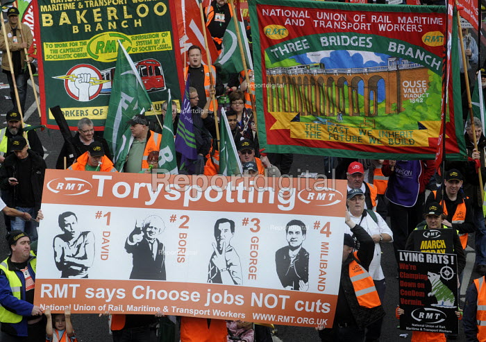 A Future That Works. March and rally organised by the TUC to protest against the government's austerity policies and to call for an alternative economic strategy that puts jobs, growth and people first. London. - Stefano Cagnoni - 2012-10-20