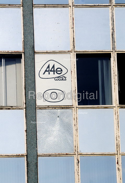 A4e disused office in Archway, north London. A4e is contracted to provide recruitment and employment services to Government - Stefano Cagnoni - 2012-02-24