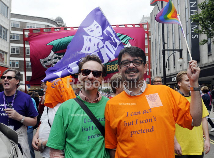 World Pride 2012 demonstration in London. Members of EQUITY join the march.. - Stefano Cagnoni - 2012-07-07