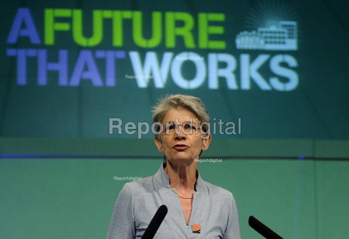 Bernadette Segol, Gen Sec of the ETUC, speaks to the 2012 TUC Congress. - Stefano Cagnoni - 2012-09-09