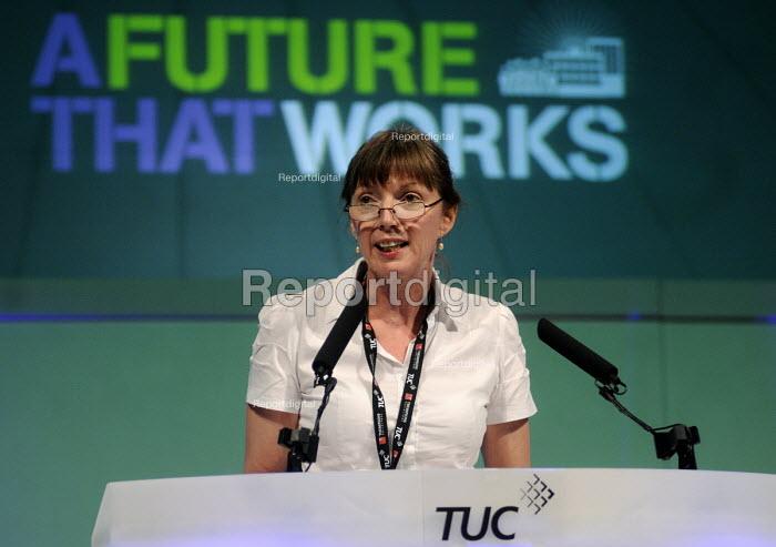 Frances O'Grady, Gen Sec TUC, 2012 TUC Congress. - Stefano Cagnoni - 2012-09-10