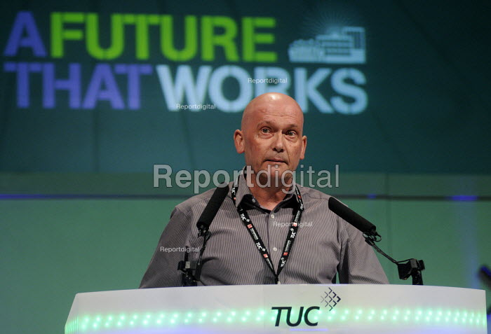 David Wiltshire of the CWU speaking at the 2012 TUC Congress. - Stefano Cagnoni - 2012-09-10