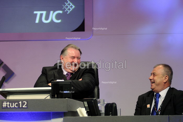 Paul Kenny and Brendan Barber, Pres and Gen Sec of the TUC respectively, speaking at the 2012 TUC Congress. - Stefano Cagnoni - 2012-09-10