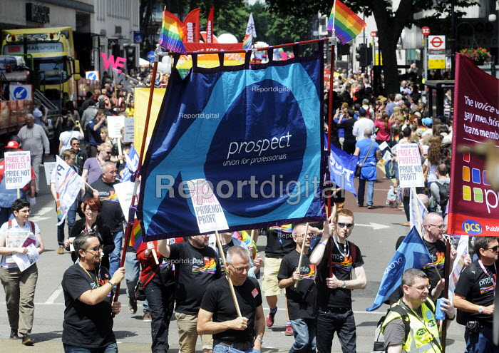 Gay Pride, London, 2013. PROSPECT members on the demonstration. - Stefano Cagnoni - 2013-06-29