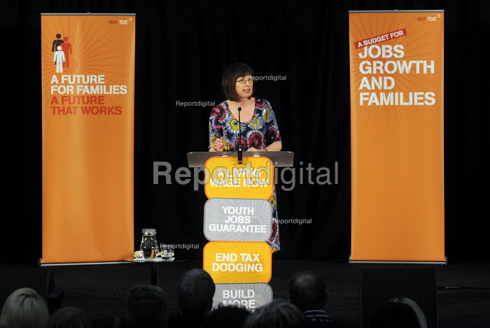 Frances O'Grady, Gen. Sec. of the TUC, speaking at the TUC A Future For Families A Future That Works rally held in central London. - Stefano Cagnoni - 2013-03-13