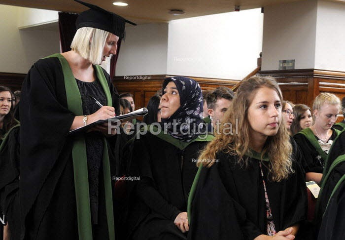 Maths Graduands waiting their turn to collect their degrees at their Graduation ceremony at the University of Leeds. - Stefano Cagnoni - 2014-07-16