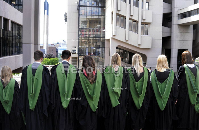 Maths Graduates lining up for a group photograph after their Graduation ceremony at the University of Leeds. - Stefano Cagnoni - 2014-07-16