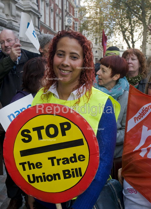 TUC Rally and Lobby against Trade Union Bill, Westminster, London, 2015. NAPO members at the Rally. - Stefano Cagnoni - 2015-11-02