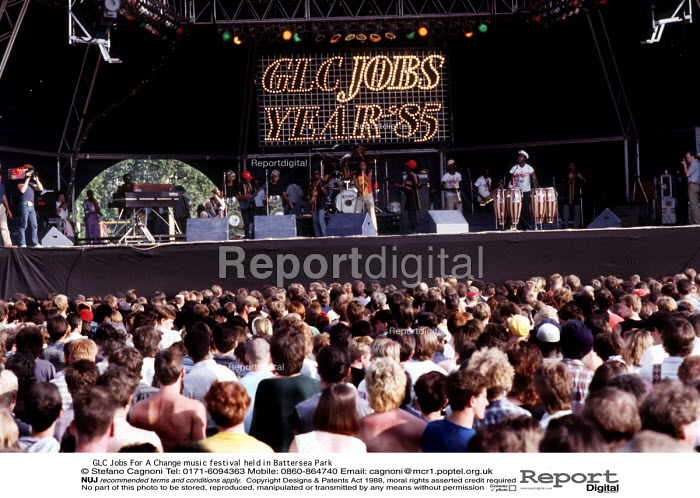 GLC Jobs For A Change music festival held in Battersea Park - Stefano Cagnoni - 1985-07-07