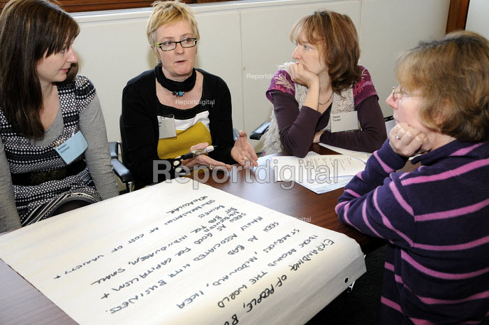 A group of women at a workshop at BECTU Women's Conference. - Janina Struk - 2010-11-24