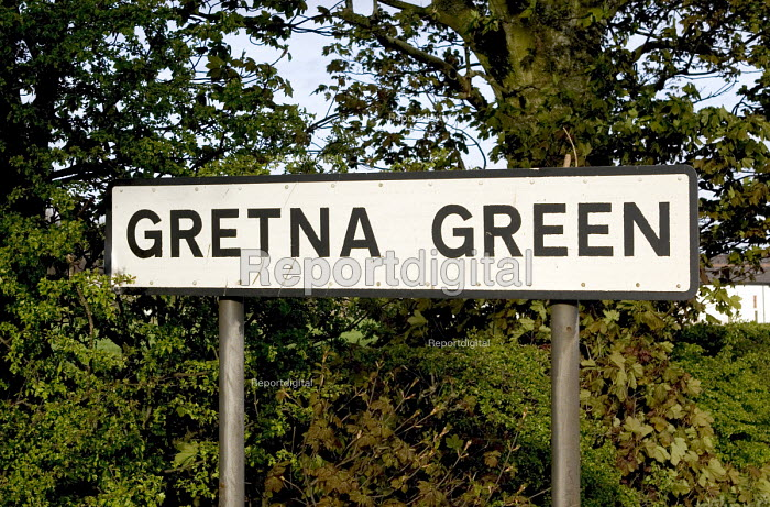 A road sign for the village of Gretna Green - John Sturrock - 2005-04-28