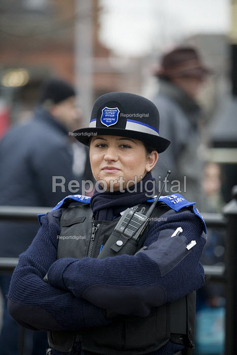 A female Police Community Support Officer in Acton, west London - John Sturrock - 2006-02-02