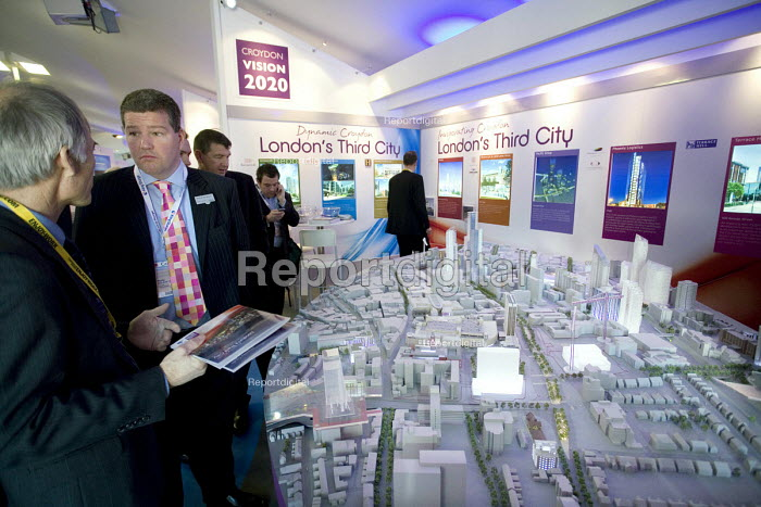 Croyden stand displays a model of a proposed redevelopment of Croydens city centre, at the MIPIM 2008 Cannes - The worlds real estate showcase for property professionals. - John Sturrock - 2008-03-11