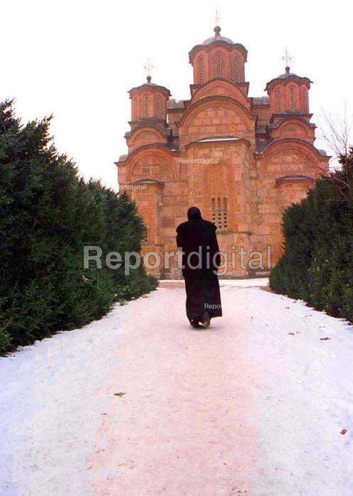 Gracanica Monastery - an important Orthodox Serbian church. Gracanica, Kosovo - Andrija Ilic - 1998-07-01