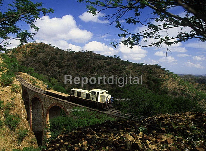 An engine donated by the German government running on a small rebuilt section of the railway line originally built during the colonial Italian era. Eritrea. 2002 - Boris Heger - 2002-09-01