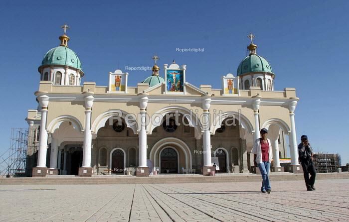 The Bole Medhanialem Church Orthodox Christian Church in Addis Ababa, Ethiopia 2005 - Boris Heger - 2005-09-06