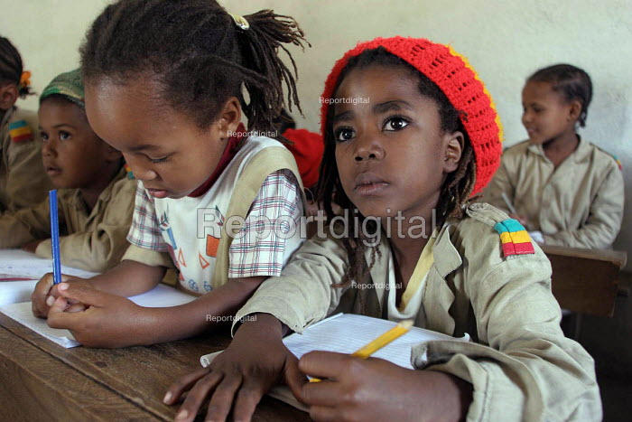 The Jamaican Rastafarian School with more than four hundred pupils who learn and follow Rastafarian traditions, Shashemene, Ethiopia. 2005 - Boris Heger - 2005-01-31