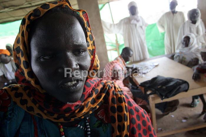Sudanese refugees who have fled the conflict in Darfur being registered by UNHCR at Farchana camp in Chad around fifty kms from the border. Chad 2005 - Boris Heger - 2005-09-23